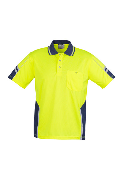 ZH237 Mens Hi Vis Moisture wicking breathable Squad S/S Polo