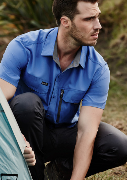 ZW465  MENS OUTDOOR S/S SHIRT