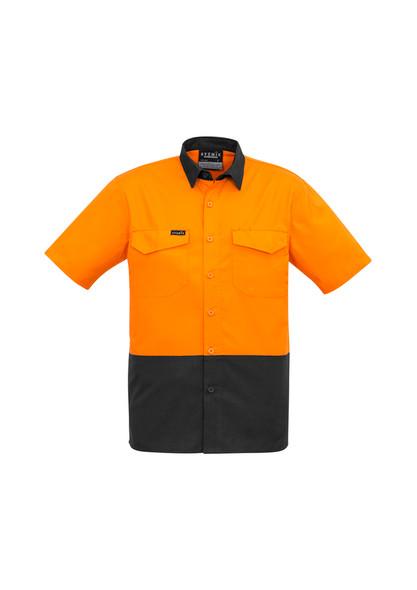 ZW815 Mens Lightweight Vented Rugged Cooling Hi Vis Spliced S/S Shirt