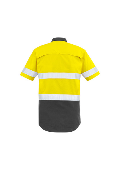 ZW835 Mens Vented Rugged Cooling Taped Hi Vis Spliced S/S Shirt