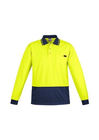 ZH410  MENS COMFORT BACK L/S POLO