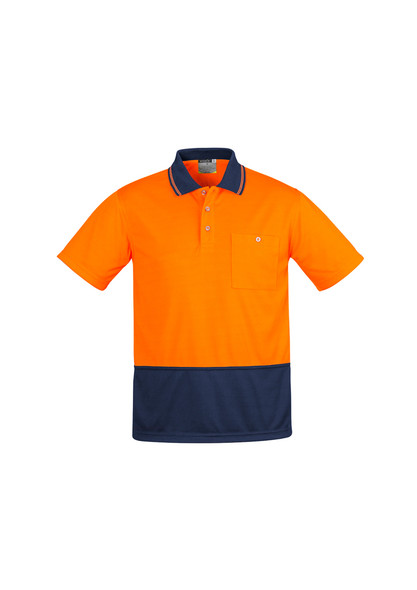 ZH415  MENS COMFORT BACK S/S POLO