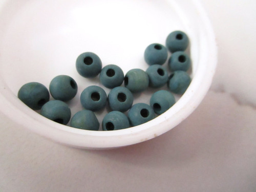 Blue 6mm round vintage lucite beads
