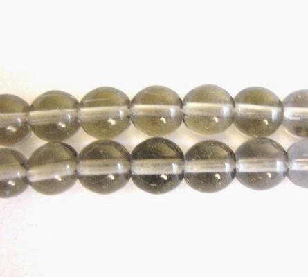 Gray 6mm round glass beads