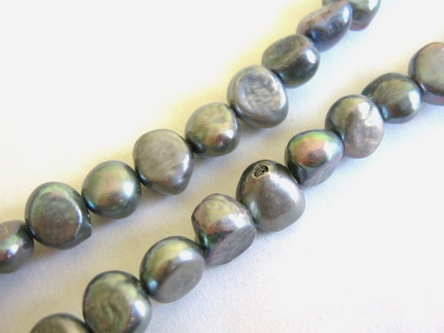 Gray 10mm baroque freshwater pearl beads
