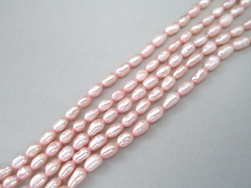Pink freshwater pearl beads