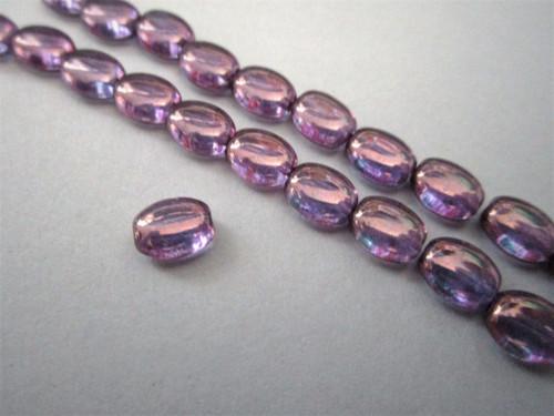 Flat oval Czech beads