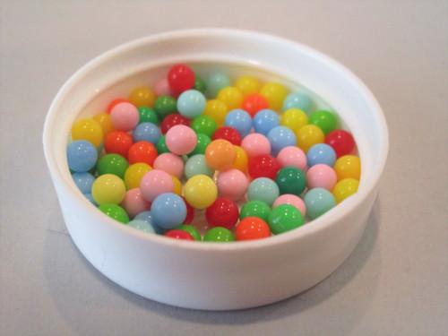 Round no hole ball acrylic plastic beads