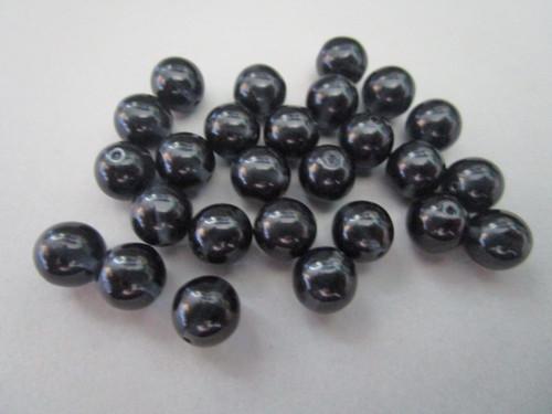 Montana blue 8mm round Czech beads