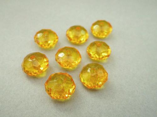 Acrylic rondelle beads