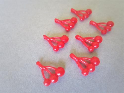 Cherry vintage plastic beads