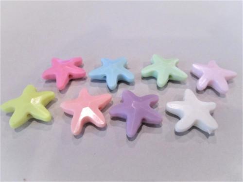 Acrylic starfish beads