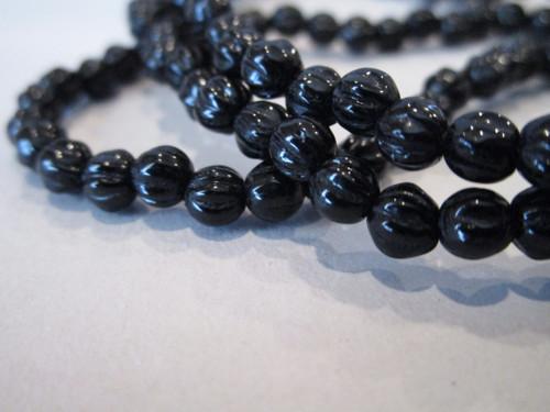 Czech 4mm melon glass beads