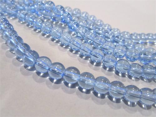 6mm round glass beads