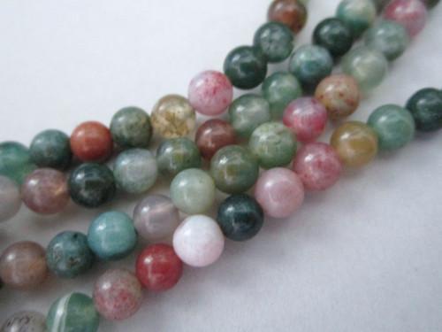 Indian agate 5mm round gemstone beads