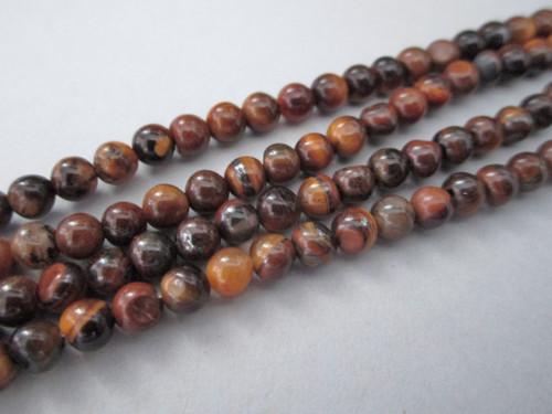 Tigereye 4mm round gemstone beads