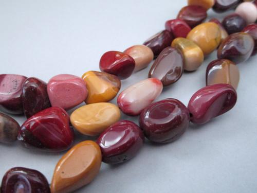 Moukaite medium nugget gemstone beads