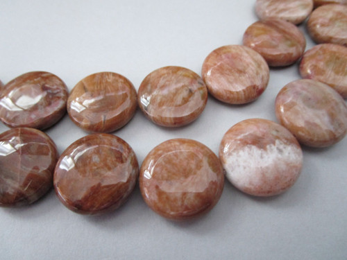 Crazy lace agate 18mm coin gemstone beads