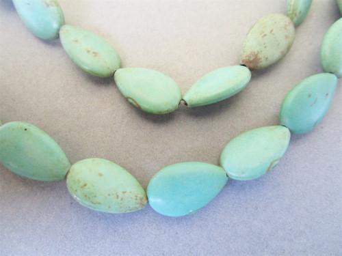 Blue Turquoise Magnesite 16x10mm teardrop gemstone beads