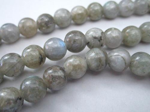 Labradorite 8.5mm - 9mm round gemstone beads