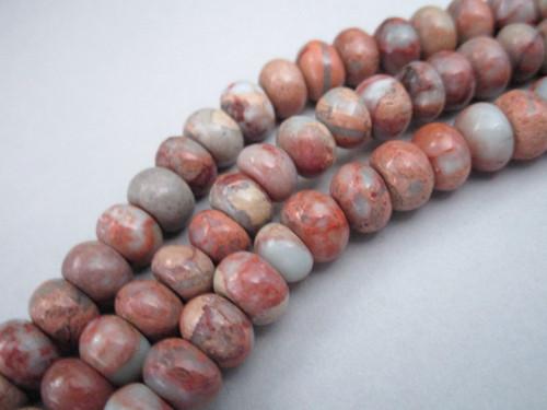 Aqua terra jasper 8mm rondelle gemstone beads