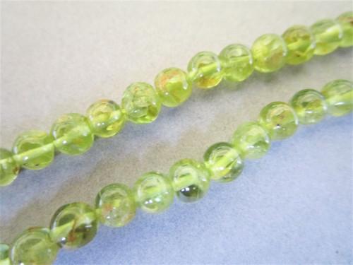 Peridot 5mm Round Gemstone Beads