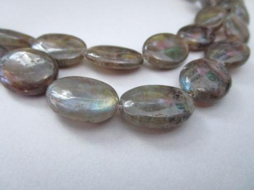 Labradorite oval gemstone beads