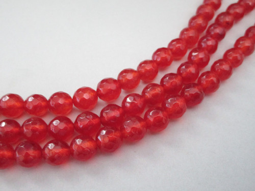 Carnelian round gemstone beads