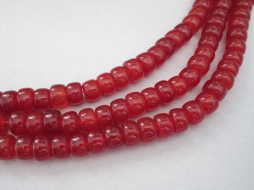 Carnelian rondelle gemstone beads