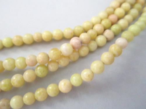 Lemon jade 4mm - 4.5mm round gemstone beads