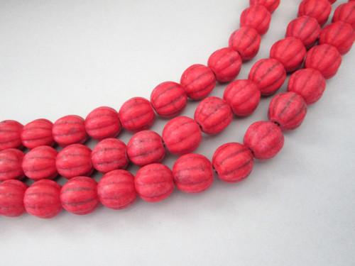 Howlite melon gemstone beads