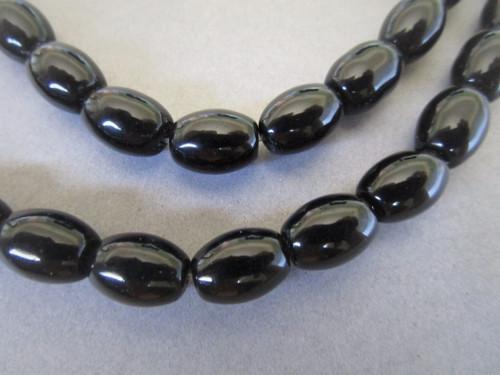 Onyx 6x8mm oval gemstone beads