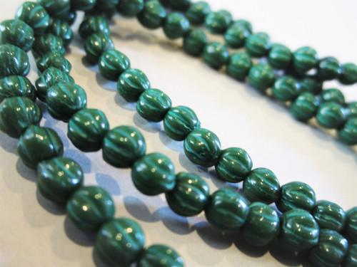 Melon 4mm Czech beads