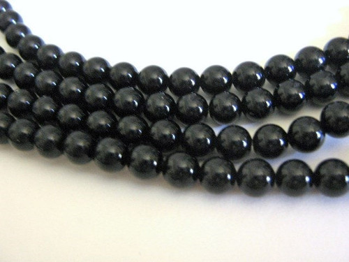 Black onyx 6mm round gemstone beads