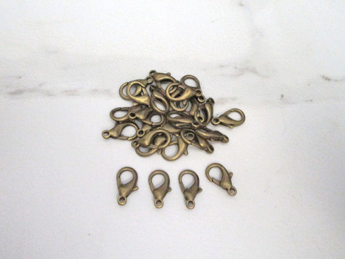 Lobster clasp 14mm antique bronze finish