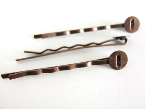 Antique copper finish 52mm bobby pin blank