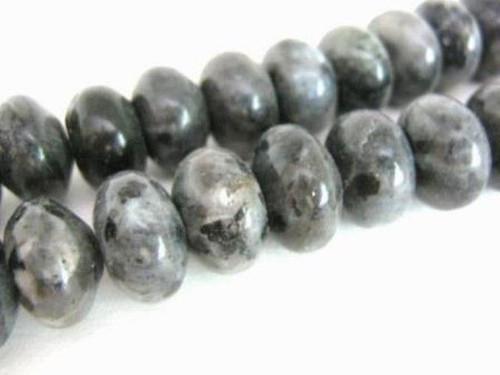 Larvikite 8mm rondelle gemstone beads