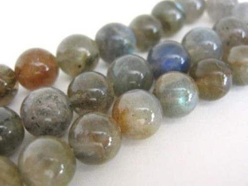 Labradorite 9mm round gemstone beads