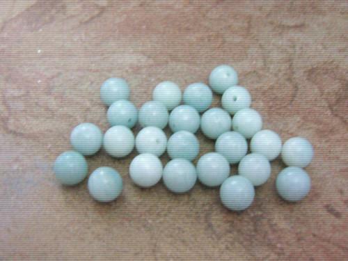Amazonite 8mm round gemstone beads