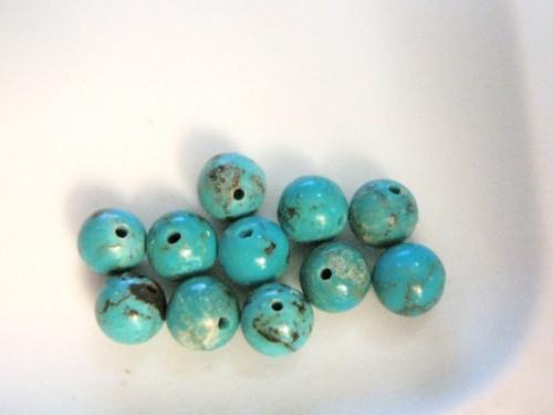 Turquoise 4mm round gemstone beads