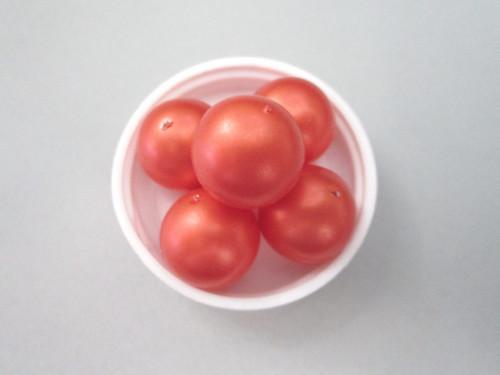 Orange 19mm Round Vintage Plastic Pearl Beads