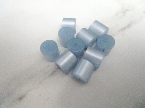Blue moonglow 12mm tube vintage lucite beads