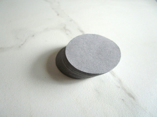 100pc Circle Die Cut 2 Inch Round Cut Outs Gray 65lb Cardstock Paper | Ready to Ship
