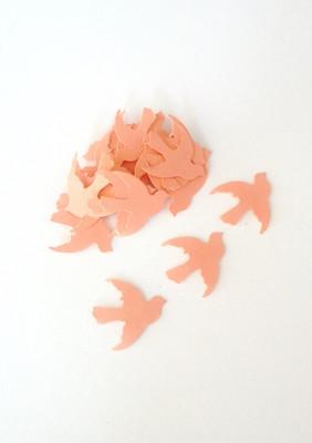320pc Dove Confetti 1 Inch Orange Bird Die Cuts Wedding Confetti Party Decor