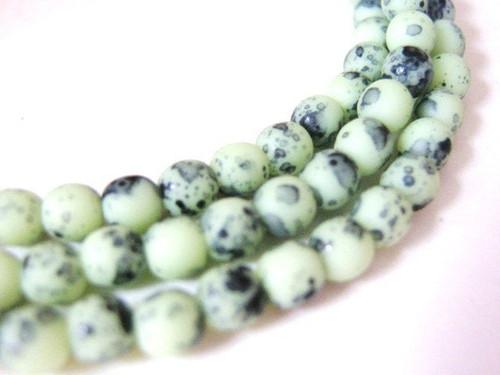 green birds egg 4mm round czech glass bead