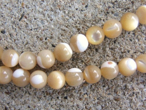 Mother of pearl 4mm round shell beads