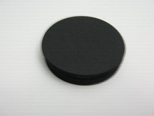 60pc Circle Die Cut 2.5 Inch Round Cut Out Black Cardstock Paper Ready to Ship