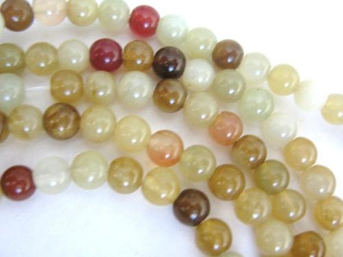 Rainbos soocho jade 6.5mm round gemstone beads