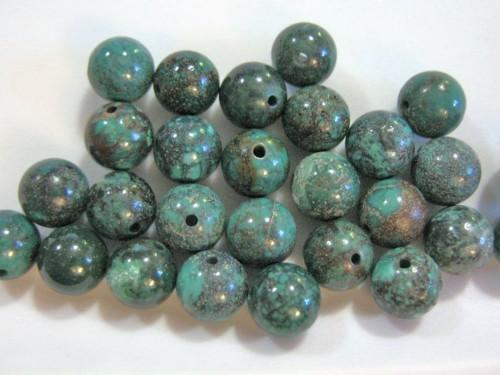 Turquoise 7mm round gemstone beads