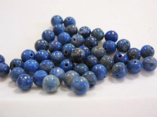 lapis lazuli 4mm round gemstone bead